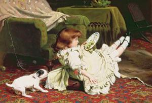 Time to Play, 1886 by Charles Burton Barber