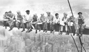Lunch Atop a Skyscraper, c.1932 by Charles C. Ebbets
