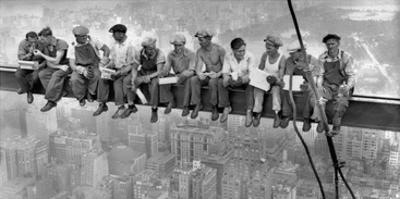 New York Construction Workers Lunching on a Crossbeam, 1932 by Charles C. Ebbets