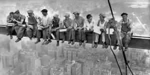 New York Construction Workers Lunching on a Crossbeam, 1932 by Charles C^ Ebbets