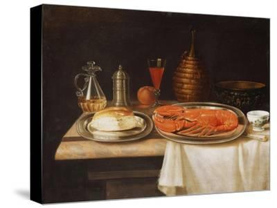 A Still-Life; with a Lobster and Bread on Salvers