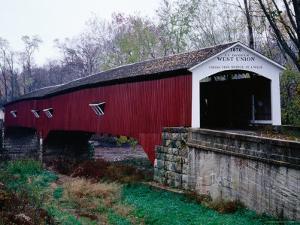 West Union Bridge, 1876, Spanning 96 Metres over Sugar Creek, Longest Bridge in Parke County by Charles Cook