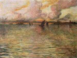 Seascape with Distant View of Venice, 1896 by Charles Cottet