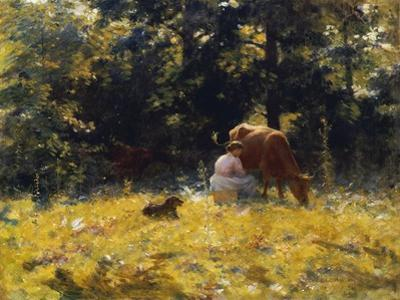 Milking Time by Charles Courtney Curran