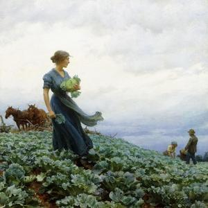 The Cabbage Field, 1914 by Charles Courtney Curran