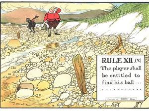 "Rule XII (V): the Player Shall be Entitled to Find His Ball..., from ""Rules of Golf"" by Charles Crombie"