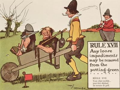 Rule XVII: Any Loose Impediments May Be Removed from the Putting-Green, from 'Rules of Golf',…