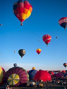 Hot Air Balloons Take Flight, Albuquerque, New Mexico, Usa by Charles Crust