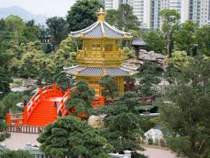 The Gold Pavilion of Absolute Perfection, Wong Tai Sin District, Kowloon, Hong Kong, China by Charles Crust