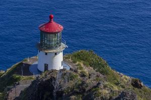 USA, Hawaii, Oahu, Waimanalo. U.S. Coast Guard Makapuu Point Light by Charles Crust