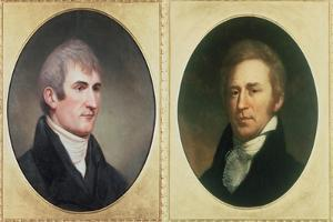 William Clark and Meriwether Lewis by Charles Currier Fenderich