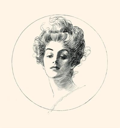 A Face by Charles Dana Gibson