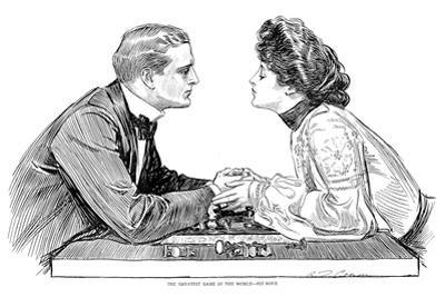 Chess Game, 1903 by Charles Dana Gibson