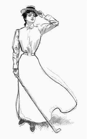 Gibson Girl, 1899 by Charles Dana Gibson