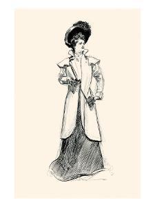 Lady With Binoculars by Charles Dana Gibson