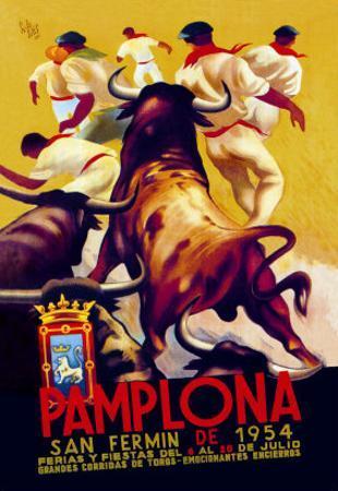 Pamplona, San Fermin by Charles Dana Gibson