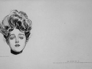 "Portrait of ""Gibson Girl,"" from Drawings Including Weaker Sex: the Story of a Susceptible Bachelor by Charles Dana Gibson"
