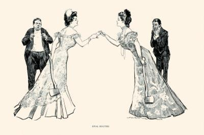 Rival Beauties by Charles Dana Gibson