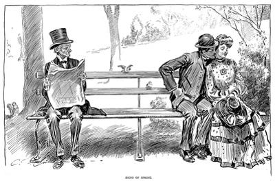 Signs of Spring by Charles Dana Gibson