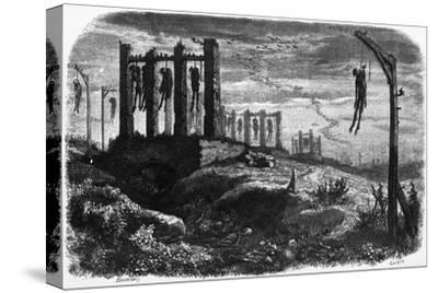Gibet de Montfaucon - Notre-Dame de Paris, édition Perrotin, 1844, page 482