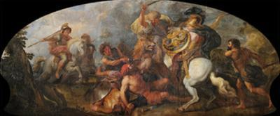 Alexander the Great Hunting Lions, Ca 1679