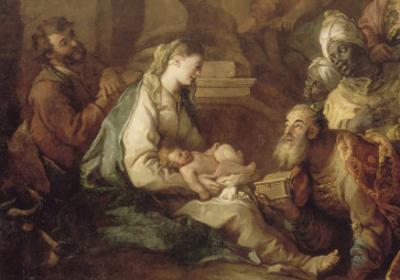 La Nativité, avec l'Adoration des mages