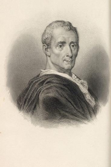 Charles De Secondat, Baron De Montesquieu (1689-175)--Giclee Print