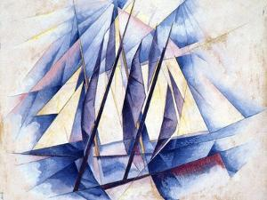 Sailing Boats, 1919 by Charles Demuth