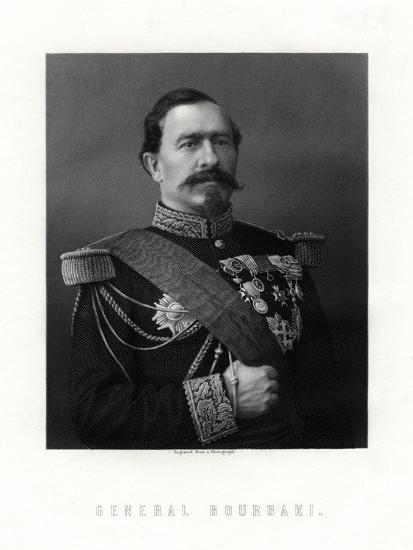 Charles Denis Sauter Bourbaki, French General, 19th Century--Giclee Print