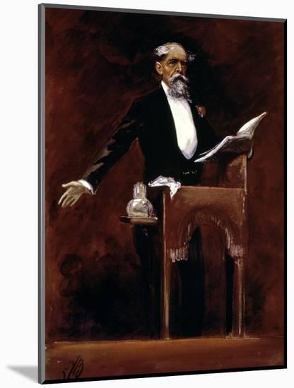 Charles Dickens (1812-70)-James Bacon-Mounted Premium Giclee Print