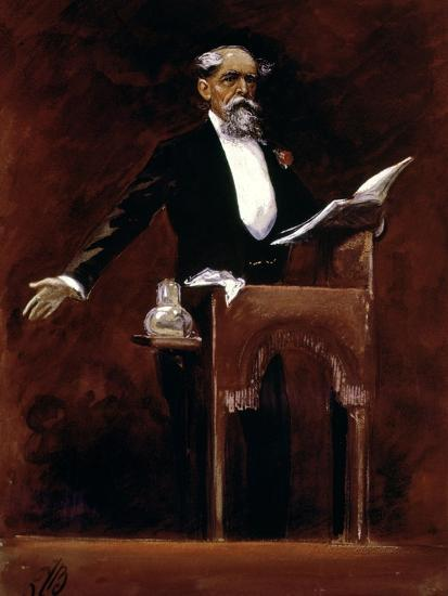 Charles Dickens (1812-70)-James Bacon-Giclee Print