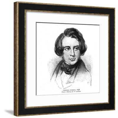 Charles Dickens, 1838-S Lawrence-Framed Giclee Print
