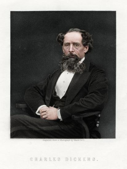 Charles Dickens, English novelist and journalist, 1876-Unknown-Giclee Print