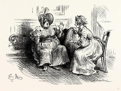 Charles Dickens Sketches by Boz Mrs. Bloss and Mis. Tibbs-George Cruikshank-Giclee Print