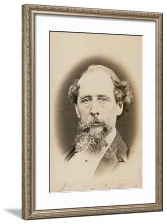 Charles Dickens--Framed Photographic Print
