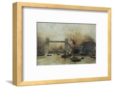 Shipping by Tower Bridge, London, England