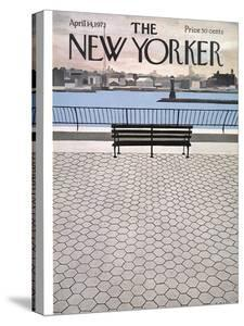 The New Yorker Cover - April 14, 1973 by Charles E. Martin