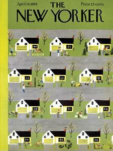 The New Yorker Cover - April 19, 1958 by Charles E. Martin