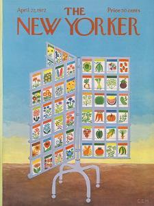The New Yorker Cover - April 22, 1972 by Charles E. Martin
