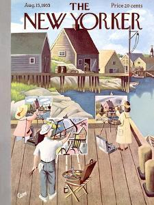The New Yorker Cover - August 15, 1953 by Charles E. Martin