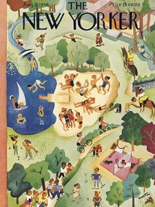 The New Yorker Cover - August 31, 1946 by Charles E. Martin