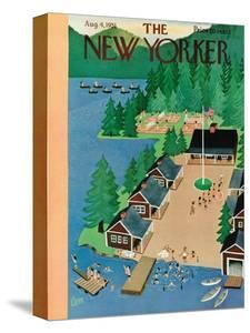 The New Yorker Cover - August 4, 1951 by Charles E. Martin
