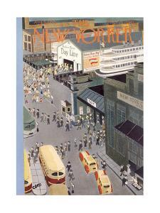The New Yorker Cover - August 5, 1950 by Charles E. Martin