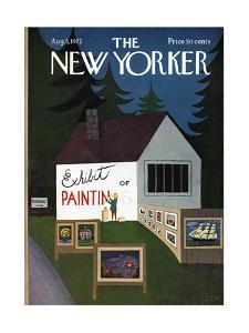 The New Yorker Cover - August 5, 1972 by Charles E. Martin