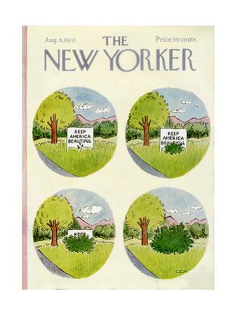 The New Yorker Cover - August 8, 1970 by Charles E. Martin