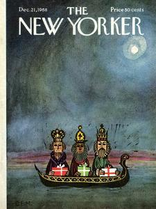 The New Yorker Cover - December 21, 1968 by Charles E. Martin
