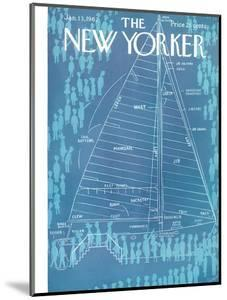 The New Yorker Cover - January 13, 1962 by Charles E. Martin