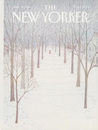 The New Yorker Cover - January 26, 1981 by Charles E. Martin