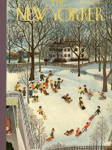 The New Yorker Cover - January 31, 1948 by Charles E. Martin