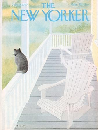 The New Yorker Cover - July 18, 1977 by Charles E. Martin